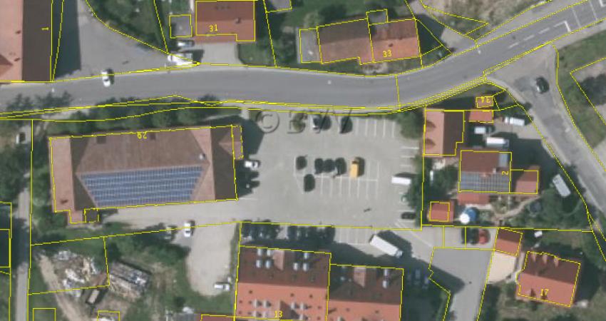 Luftaufnahme der Bernhardswalder Ortsmitte